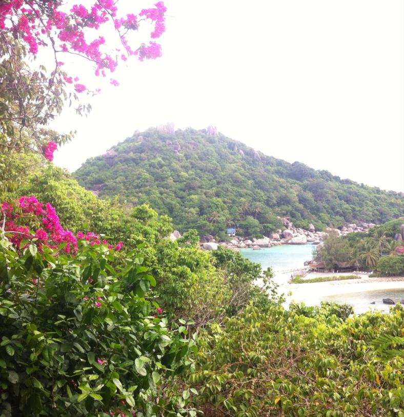 Notre vue sur Koh Nang Yuan depuis notre bungalow