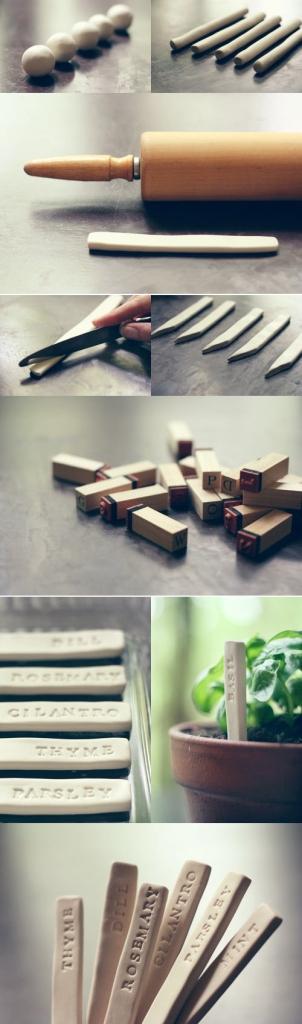 Insipiration étiquette pour plantes, sur Pinterest