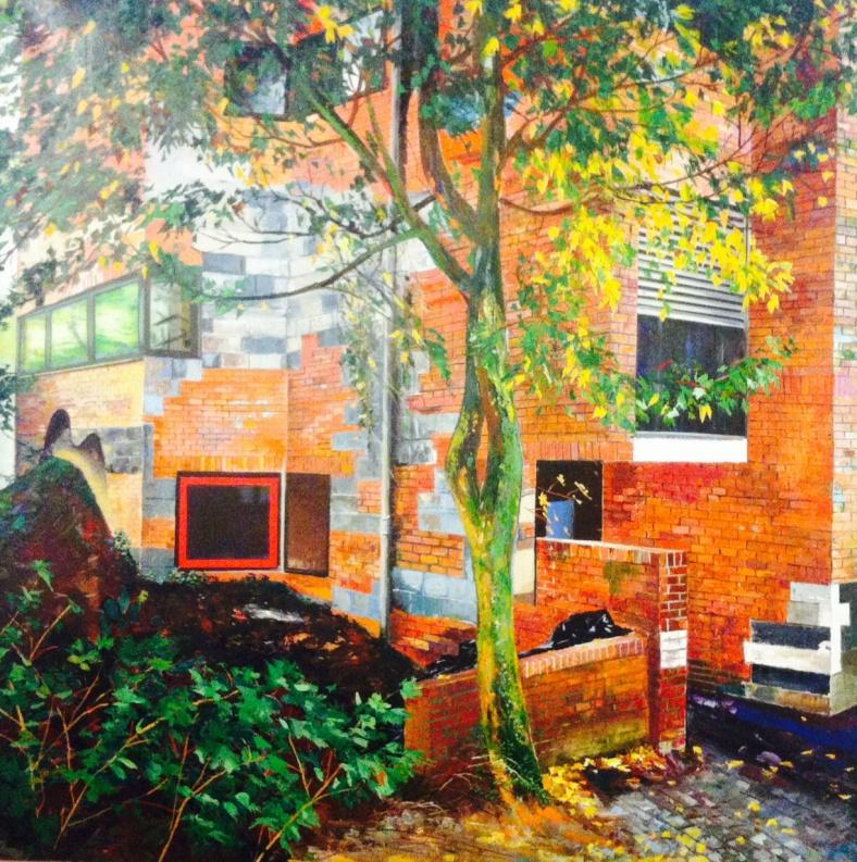 Paysage urbain végétalisé, de Yves Berlorgey