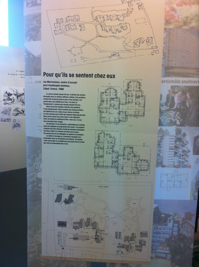 Plans de Lucien Kroll, pour réhabiliter un quartier